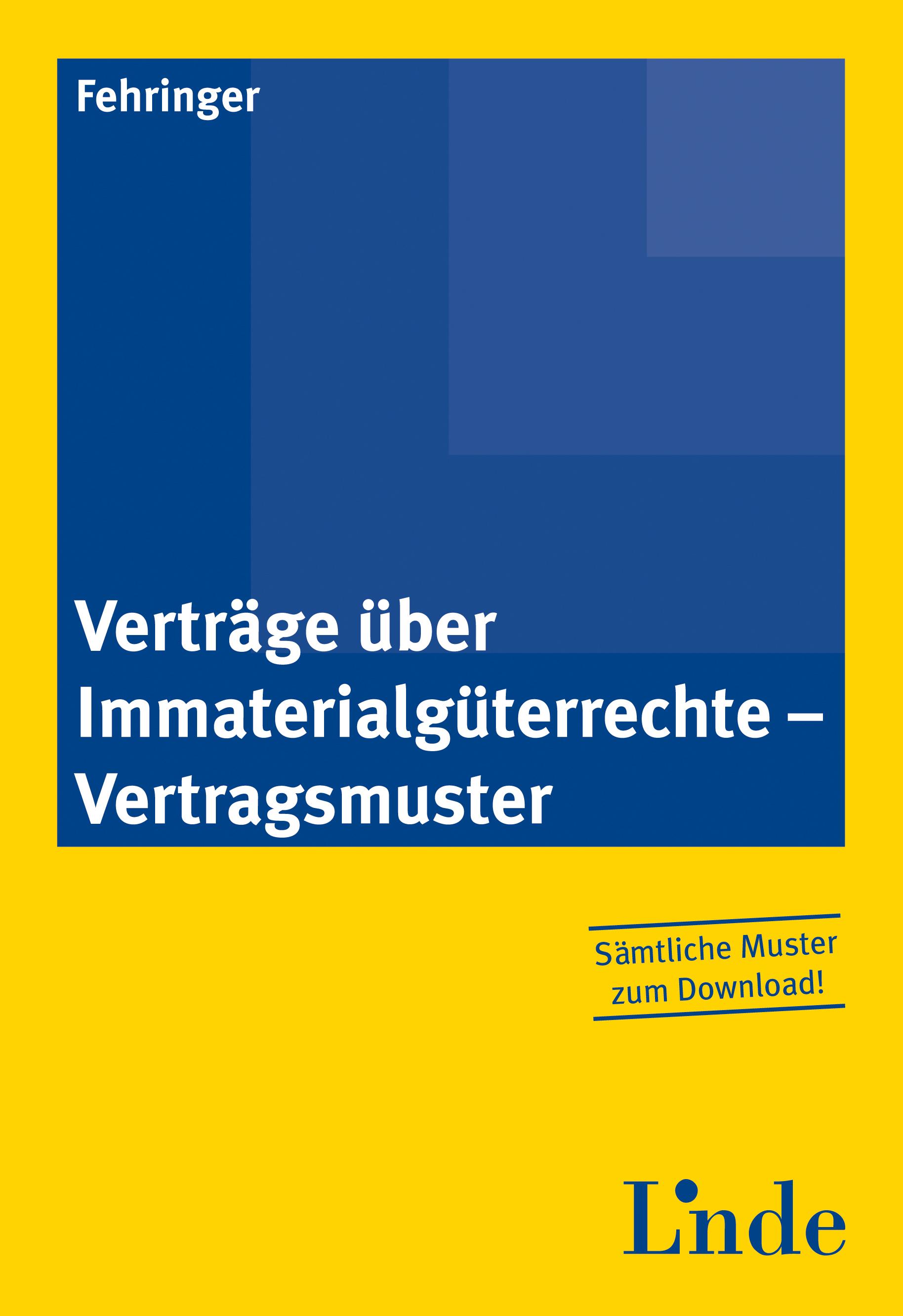 Verträge über Immaterialgüterrechte - Vertragsmuster | Linde ...