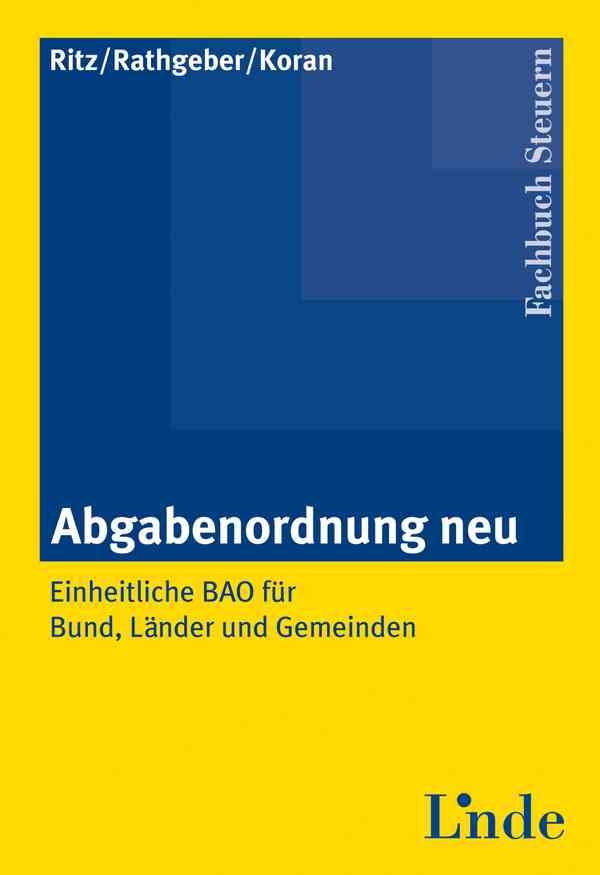 Abgabenordnung neu | Linde Verlag