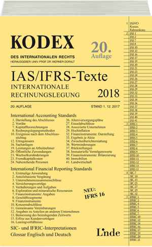 KODEX Internationale Rechnungslegung IAS/IFRS - Texte 2018