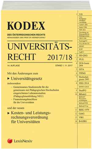 Kodex Universitätsrecht 2017/18