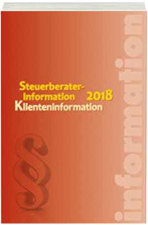 Steuerberaterinformation Klienteninformation 2018