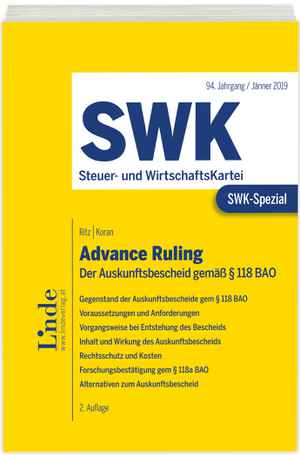 SWK-Spezial Advance Ruling