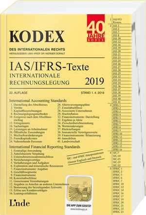 KODEX Internationale Rechnungslegung IAS/IFRS - Texte 2019
