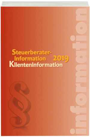 Steuerberaterinformation Klienteninformation 2019