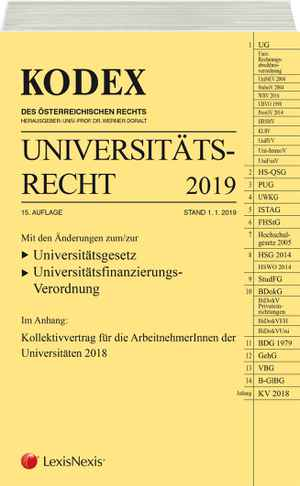 Kodex Universitätsrecht 2019