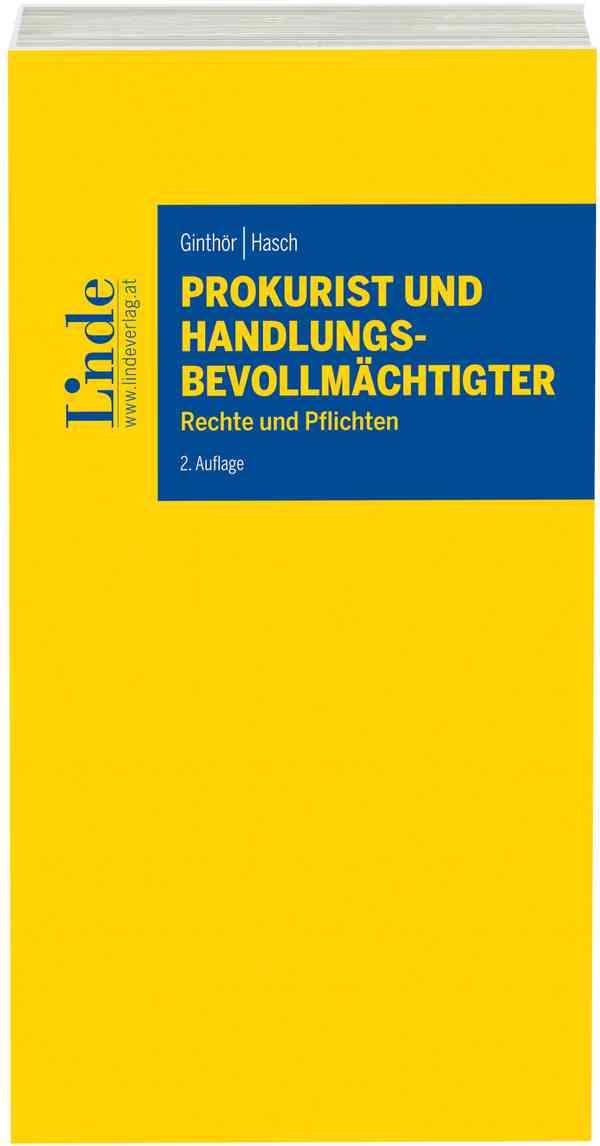 Prokurist Und Handlungsbevollmächtigter Linde Verlag