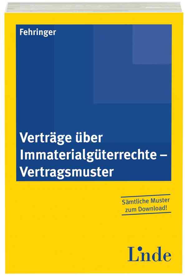 Verträge über Immaterialgüterrechte Vertragsmuster Linde