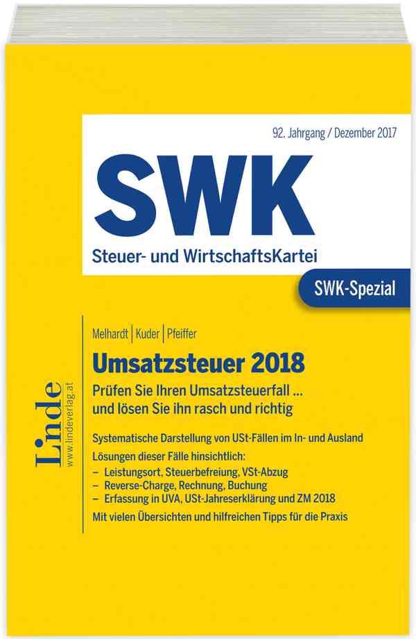 Swk Spezial Umsatzsteuer 2018 Linde Verlag