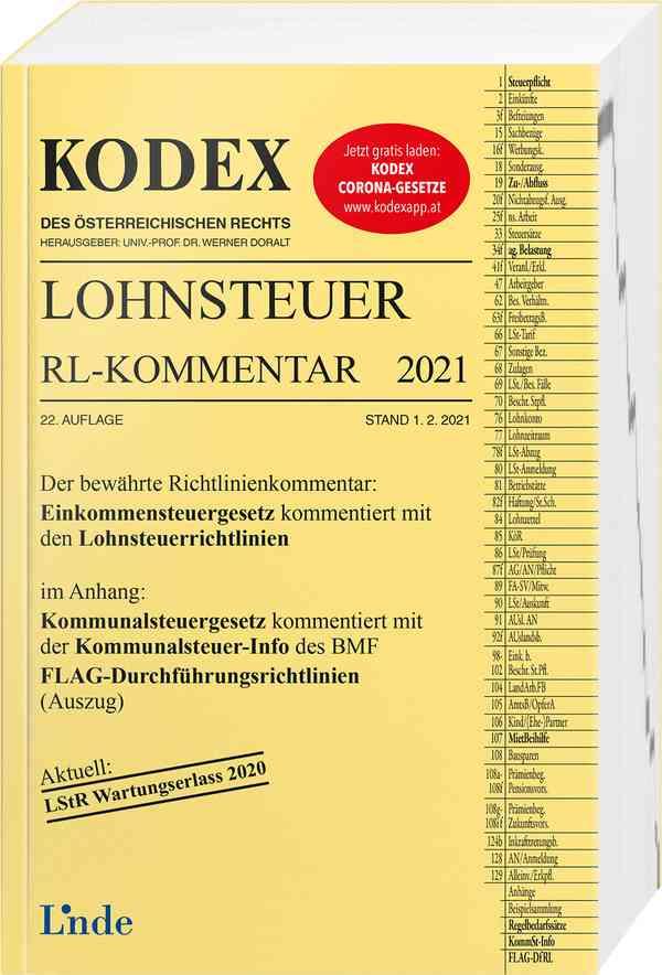 KODEX Lohnsteuer Richtlinien-Kommentar 2021   Linde Verlag