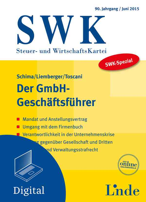 Swk Spezial Der Gmbh Geschäftsführer Linde Verlag