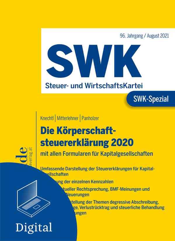 SWK-Spezial Die Körperschaftsteuererklärung 2020