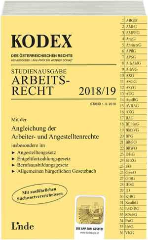 Kodex Arbeitnehmerschutz 201819 Linde Verlag