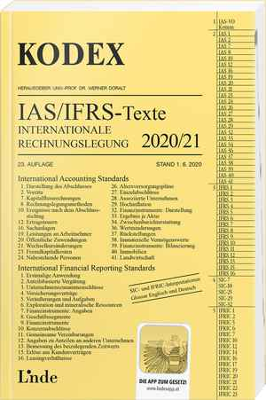 KODEX Internationale Rechnungslegung IAS/IFRS - Texte 2020/21