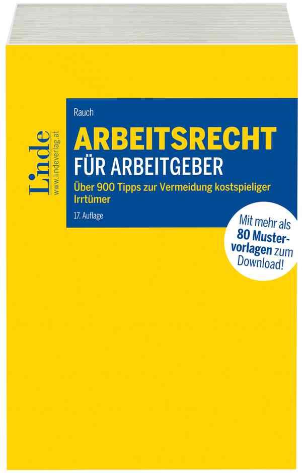 Arbeitsrecht Für Arbeitgeber Linde Verlag