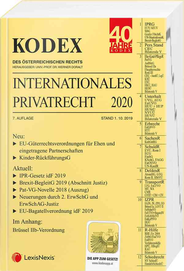 Kodex Internationales Privatrecht 2020