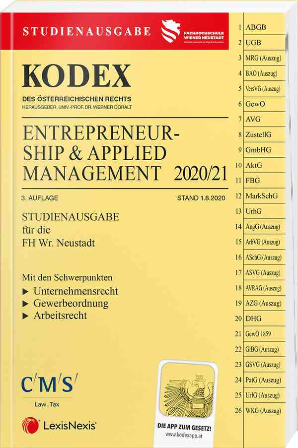 Kodex Entrepreneurship 2020/21 Studienausgabe