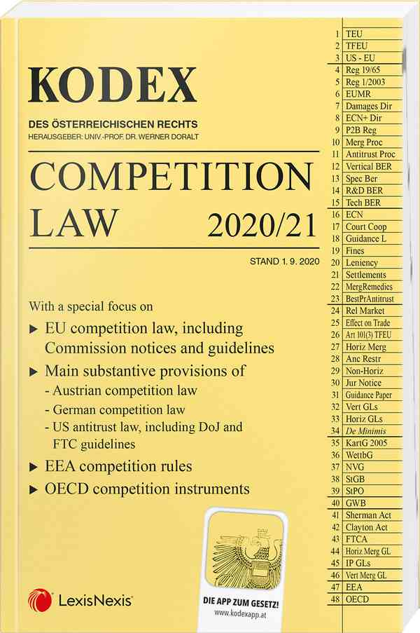 Kodex Competition Law 2020/21