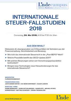 Internationale Steuer-Fallstudien 2018