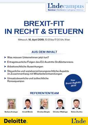 Brexit-fit in Recht & Steuern