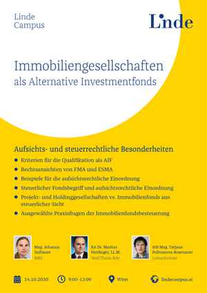 Immobiliengesellschaften als Alternative Investmentfonds