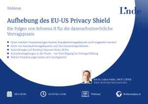 Aufhebung des EU-US Privacy Shield