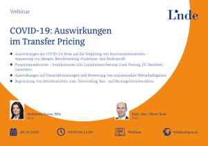 COVID-19: Auswirkungen im Transfer Pricing