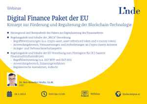 Digital Finance Paket der EU