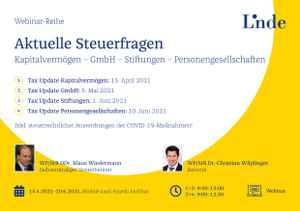 Tax Update Stiftungen
