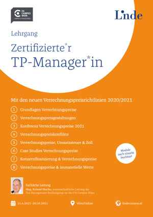 Zertifizierte*r Transfer Pricing-Manager*in