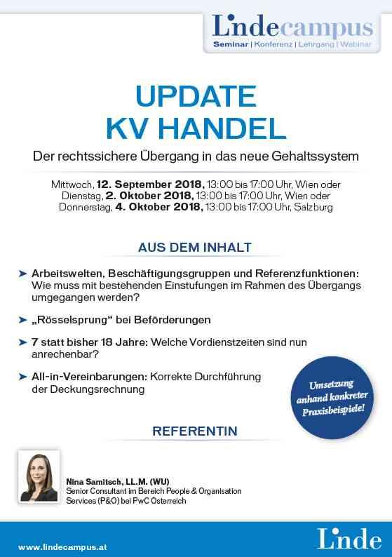 Update Kv Handel Linde Verlag