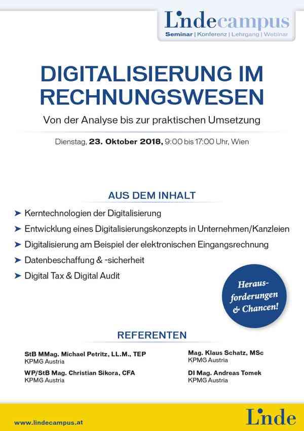 Digitalisierung Im Rechnungswesen Linde Verlag