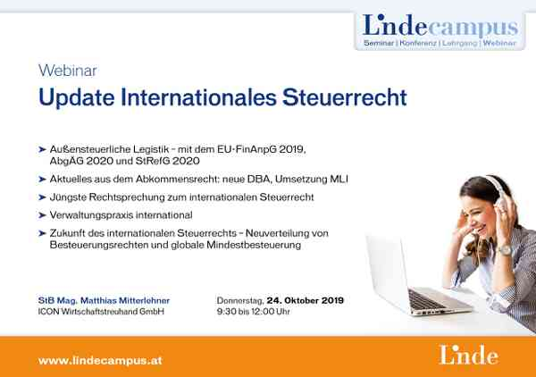Update Internationales Steuerrecht