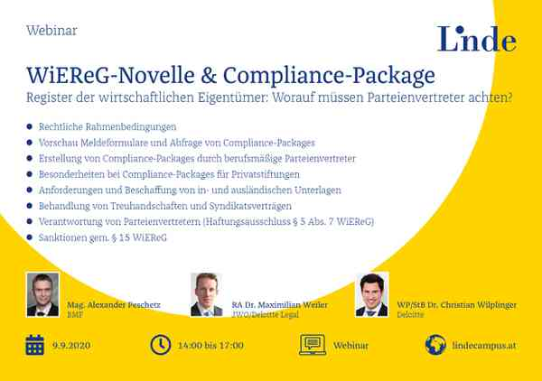 WiEReG-Novelle & Compliance-Package