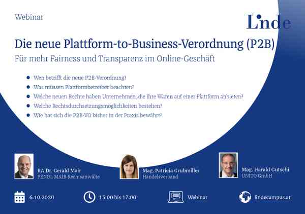 Die neue Plattform-to-Business-Verordnung (P2B)