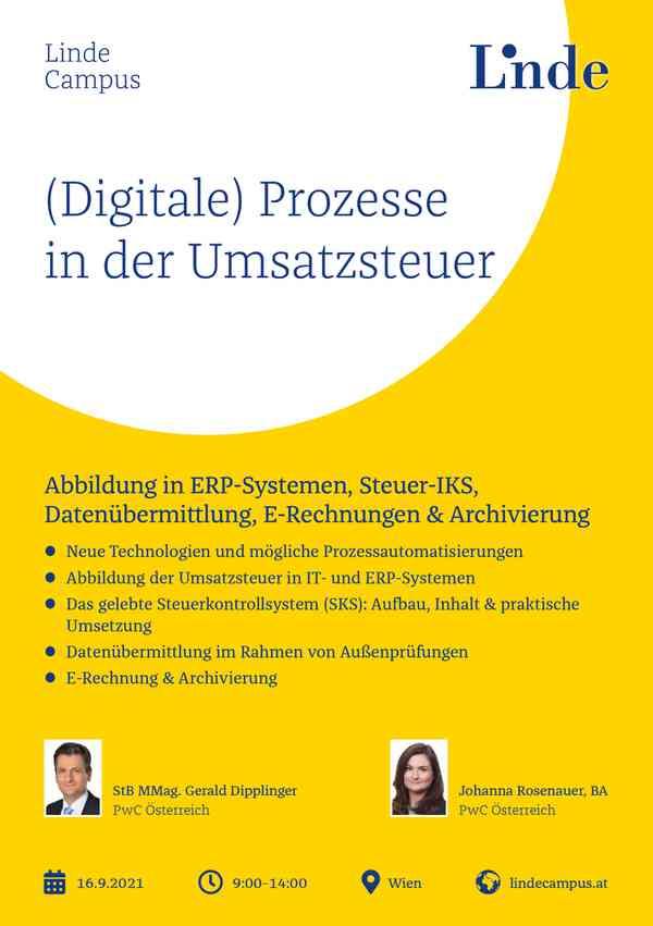 (Digitale) Prozesse in der Umsatzsteuer