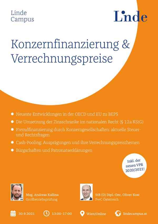 Konzernfinanzierung und Verrechnungspreise