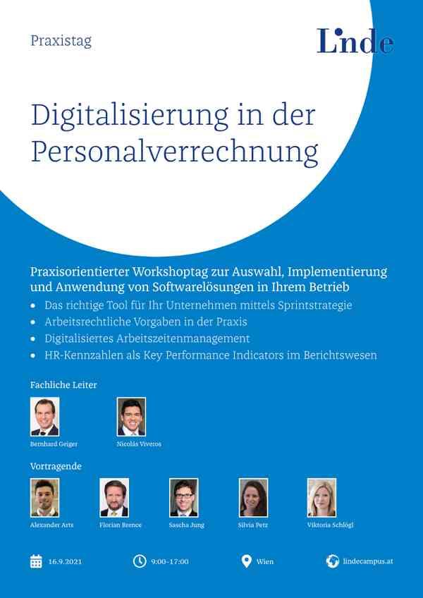 Digitalisierung in der Personalverrechnung