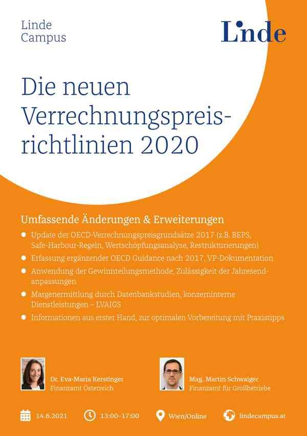 Die neuen Verrechnungspreisrichtlinien 2020