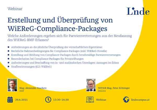 Erstellung & Überprüfung von WiEReG Compliance-Packages