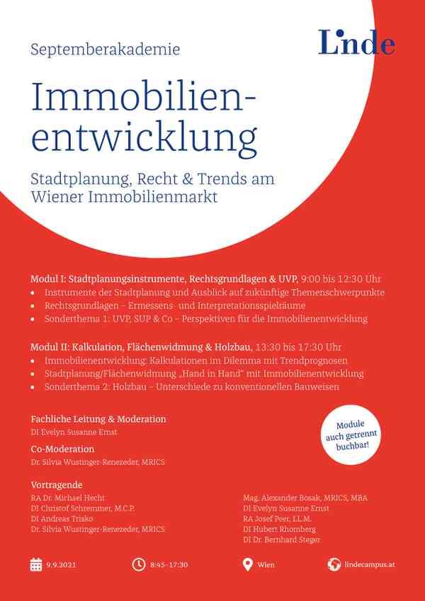 Septemberakademie Immobilienentwicklung