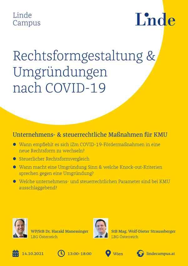 Rechtsformgestaltung & Umgründungen nach COVID-19