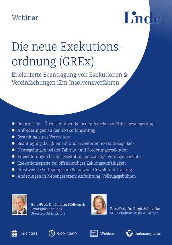Die neue Exekutionsordnung (GREx)