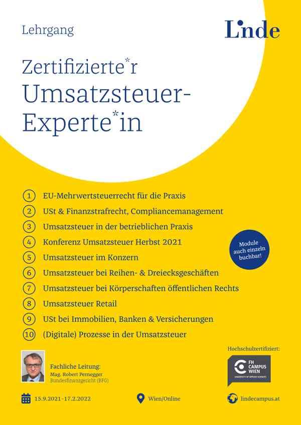 Zertifizierte*r Umsatzsteuer-Experte*in