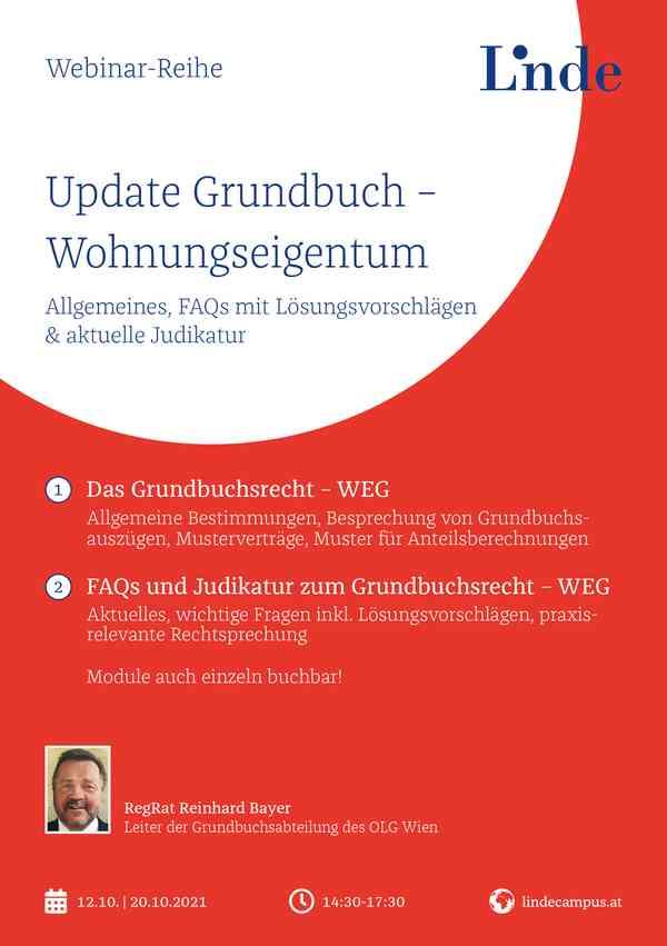 FAQs und Judikatur zum Grundbuchsrecht - WEG