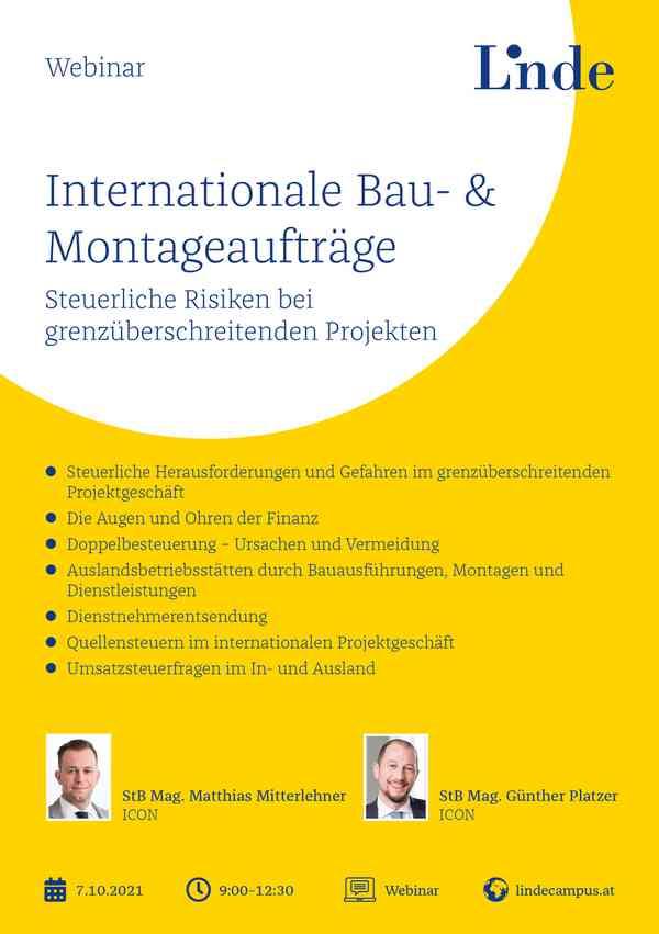 Internationale Bau- & Montageaufträge