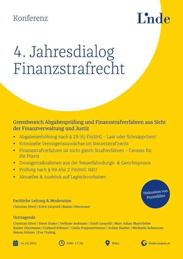 4. Jahresdialog Finanzstrafrecht 2021