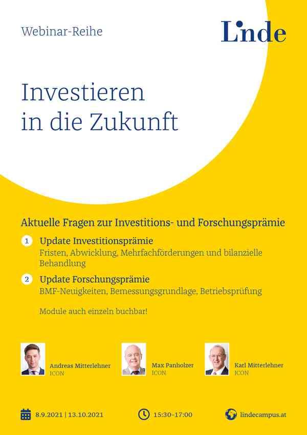 Update Investitionsprämie