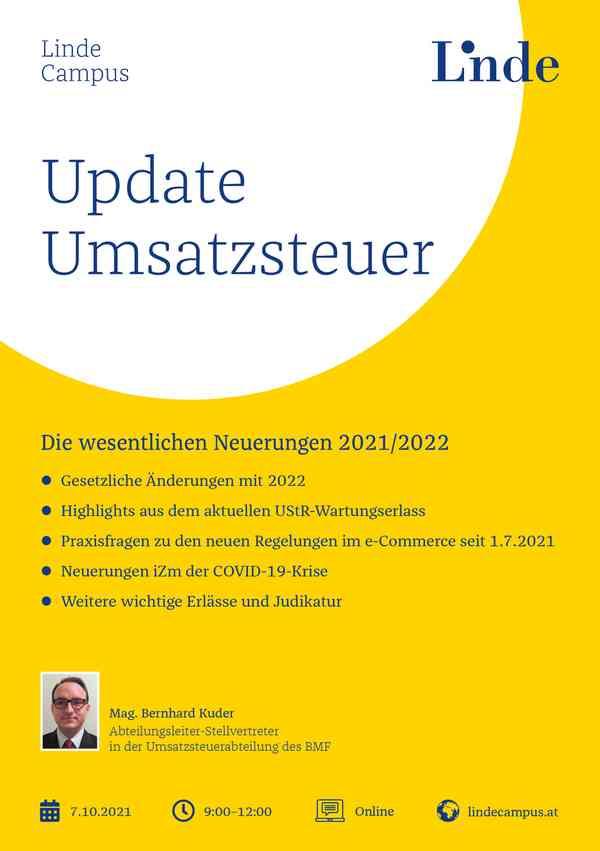 Update Umsatzsteuer