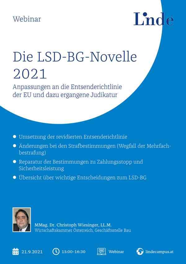 Die LSD-BG-Novelle 2021