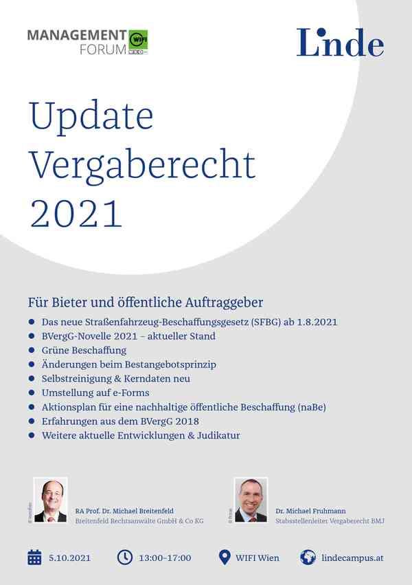 Update Vergaberecht 2021
